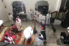 Pohřeb P. Badala 29.3. 2019